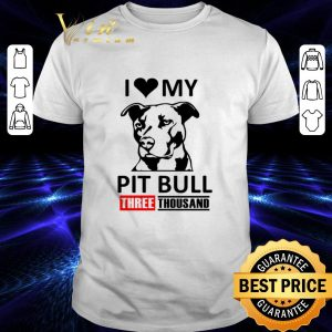 Official I love my Pit Bull three thousand Marvel Studios shirt