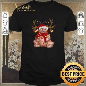 Official Santa Bear Reindeer Christmas Light shirt sweater