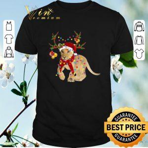 Official Santa Lion Reindeer Christmas Light shirt sweater