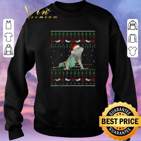 Official Ugly Christmas Iguanas Santa sweater