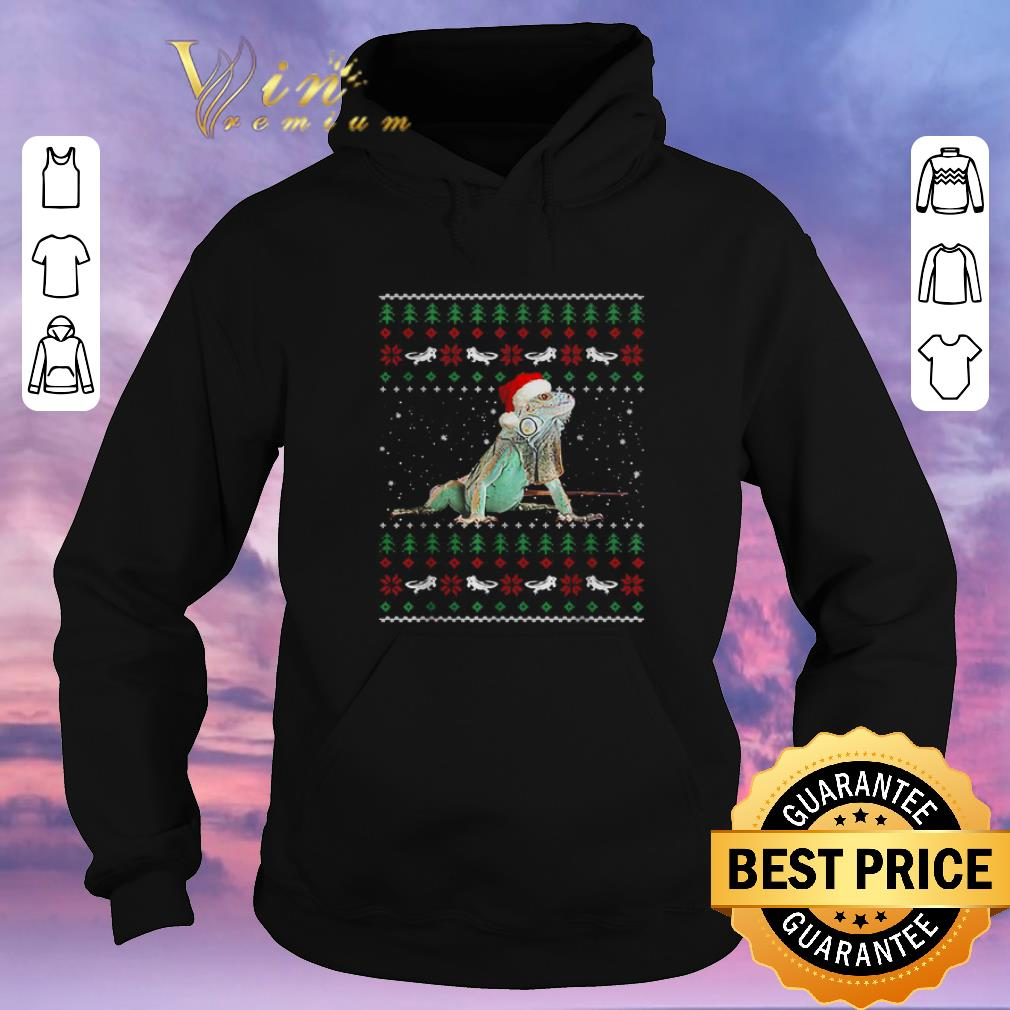 Official Ugly Christmas Iguanas Santa sweater 4 - Official Ugly Christmas Iguanas Santa sweater