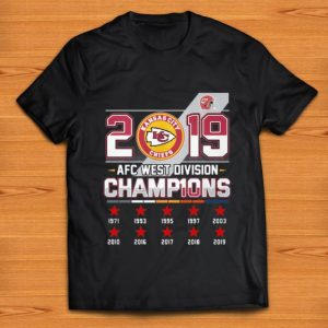 Original 2019 AFC West Division Champions Kansas City Chiefs shirt