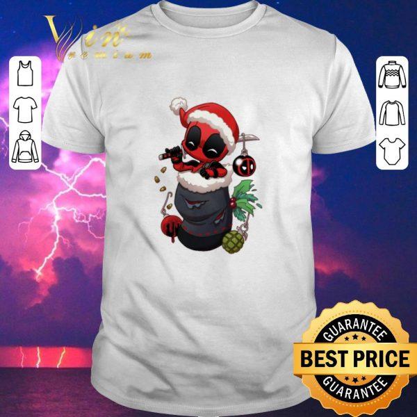 Original Christmas Deadpool santa stocking stuffers shirt