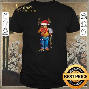 Original Christmas light Smokey Bear santa reindeer shirt