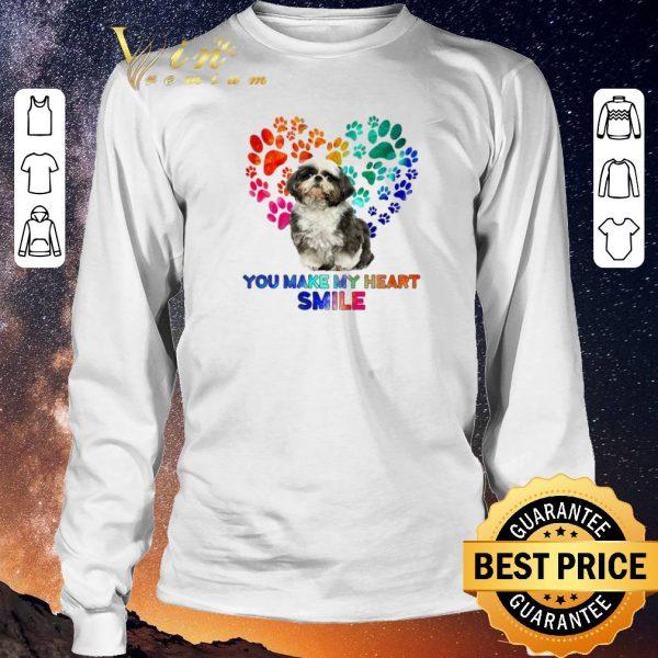 Original Paws color Shih Tzu you make my heart smile shirt sweater