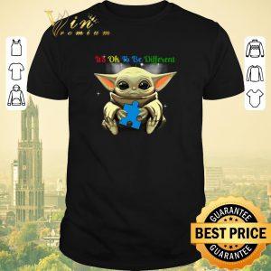 Premium Autism Awareness Baby Yoda it's ok to be different shirt sweater