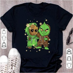 Premium Baby Groot And Grinch Merry Christmas shirt