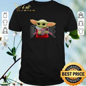 Premium Baby Yoda Hug Ohio State Buckeyes shirt sweater