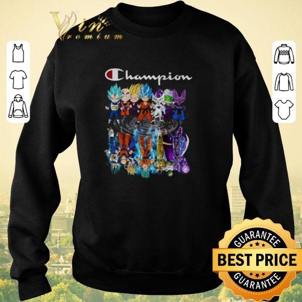 Premium Champion Dragon ball characters chibi reflection water mirror shirt sweater