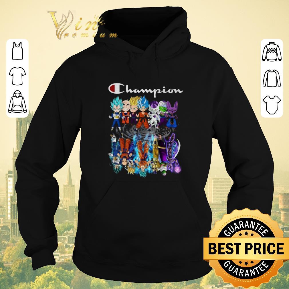 Premium Champion Dragon ball characters chibi reflection water mirror shirt sweater 4 - Premium Champion Dragon ball characters chibi reflection water mirror shirt sweater