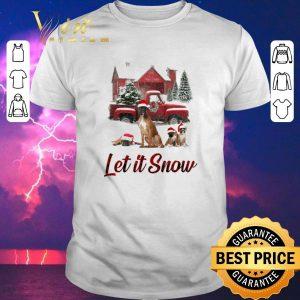 Premium Christmas Santa Boxer Let It Snow shirt