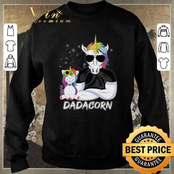 Pretty Christmas Dadacorn Unicorn Dad And Daughter shirt