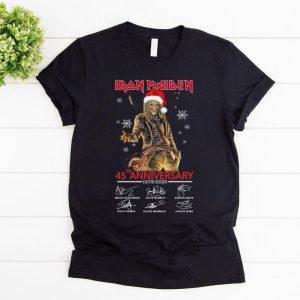 Pretty Iron Maiden Santa 45th Anniversary Signatures Christmas shirt