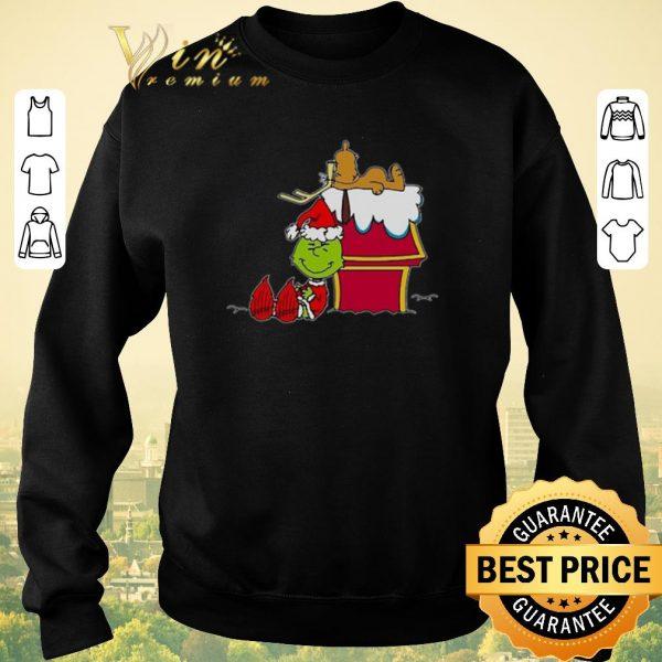 Pretty Santa Grinch And Moose Christmas shirt sweater