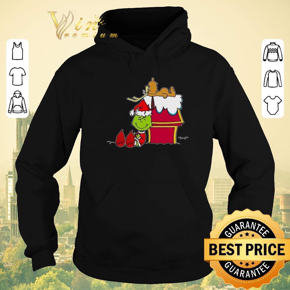Pretty Santa Grinch And Moose Christmas shirt sweater 4 - Pretty Santa Grinch And Moose Christmas shirt sweater
