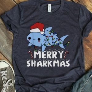 Pretty Santa Shark Merry Sharkmas Christmas shirt