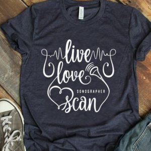 Pretty Sonographer Live Love Scan Heart shirt