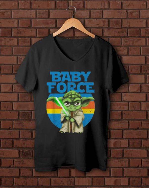 Pretty Vintage Star Wars Yoda Baby Force The Mandalorian shirt