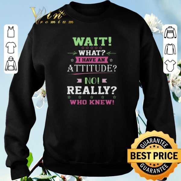 Pretty Wait what i have an attitude no really who knew shirt sweater