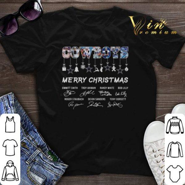 Signature Dallas Cowboys Merry Christmas all shirt