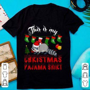 This Is My Christmas Pajama Raccoon Gift For Kid X-mas sweater