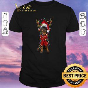 Top Christmas Rottweiler Reindeer shirt
