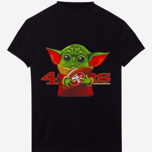 Top Football Star Wars Baby Yoda Hug San Francisco 49ers shirt
