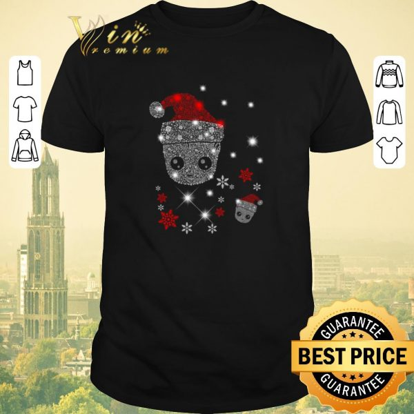 Top Santa Christmas Diamond Baby Groot shirt