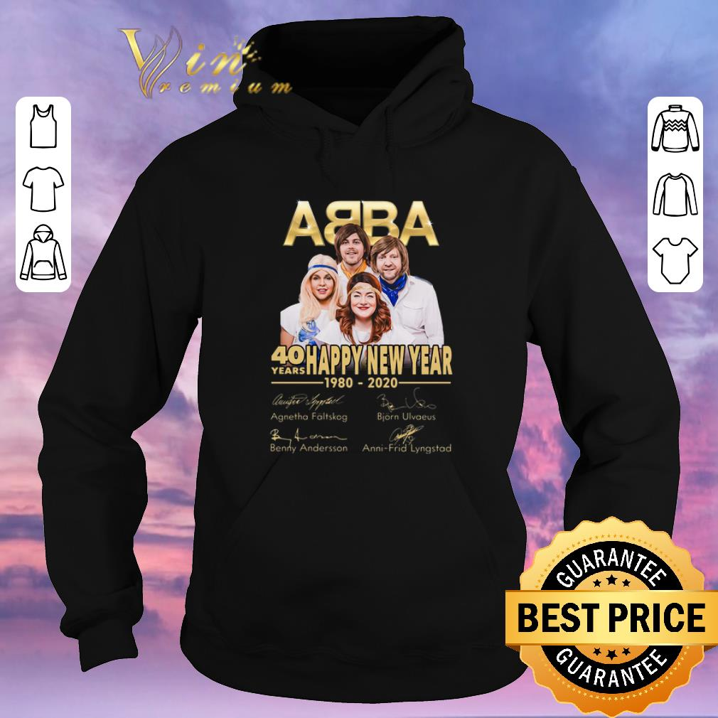 Top Signatures ABBA 40 years Happy New Year 1980 2020 shirt 4 - Top Signatures ABBA 40 years Happy New Year 1980-2020 shirt