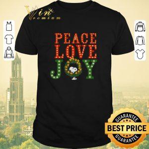 Top peanuts snoopy peace love joy christmas shirt sweater