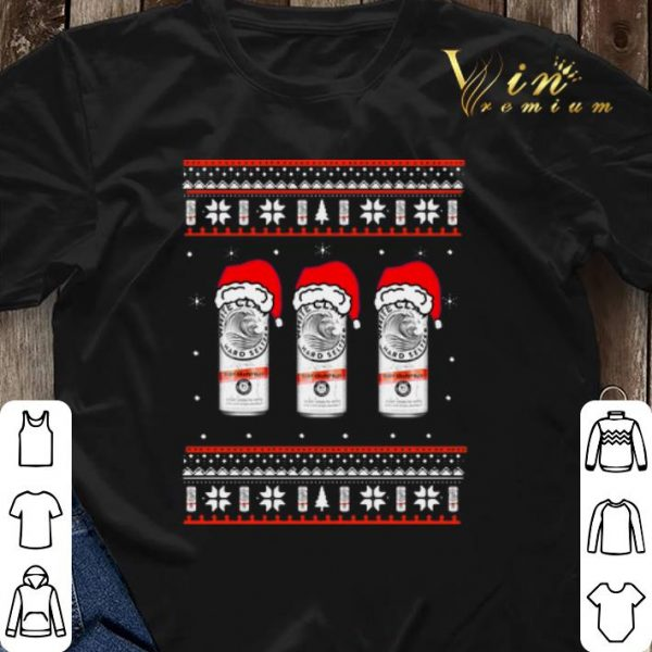 Ugly Christmas White Claw Hard Seltzer Santa hat sweater