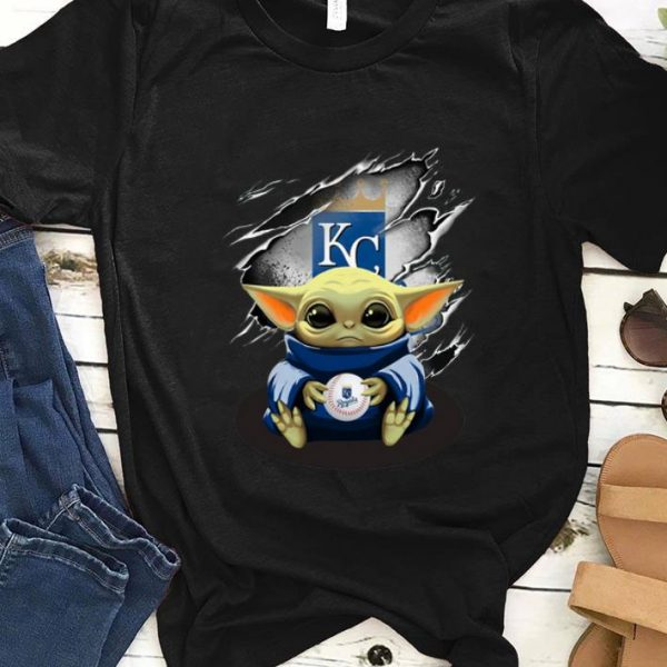 Awesome Kansas City Royals Baby Yoda Blood Inside shirt