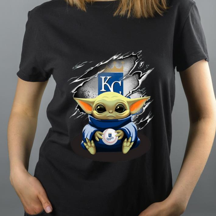Awesome Kansas City Royals Baby Yoda Blood Inside shirt 4 - Awesome Kansas City Royals Baby Yoda Blood Inside shirt