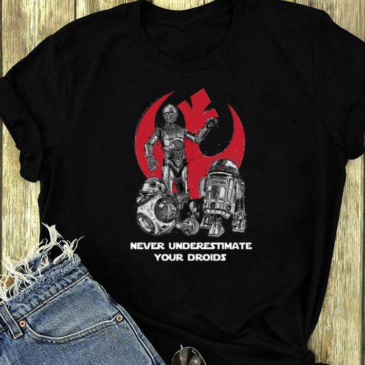Awesome Never Underestimate Your Droids Star Wars shirt 4 - Awesome Never Underestimate Your Droids Star Wars shirt