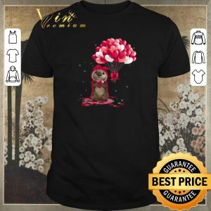 Awesome Otter love balloons heart shirt sweater