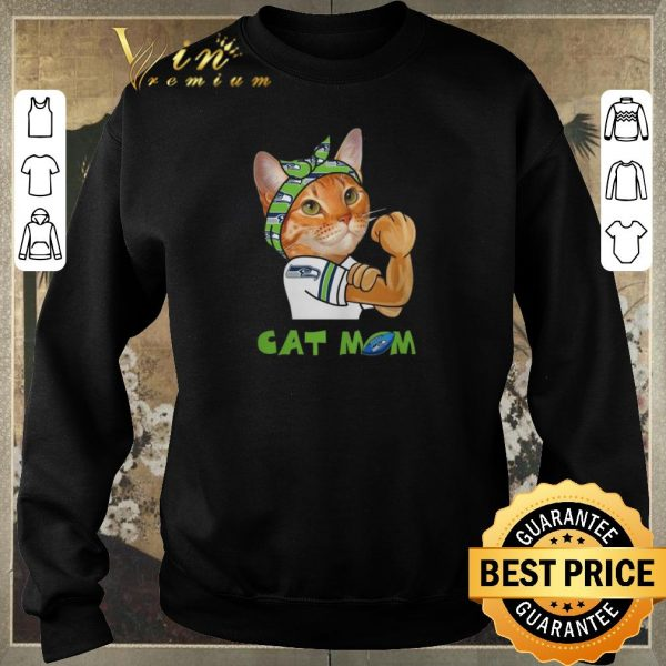 Awesome Strong Cat Mom Seattle Seahawks shirt sweater