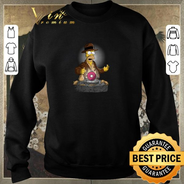 Awesome The Simpsons Adventures of Indiana Homer shirt sweater