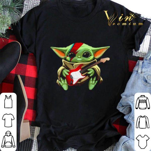 Baby Yoda hug Electric guitar Star Wars shirt sweater