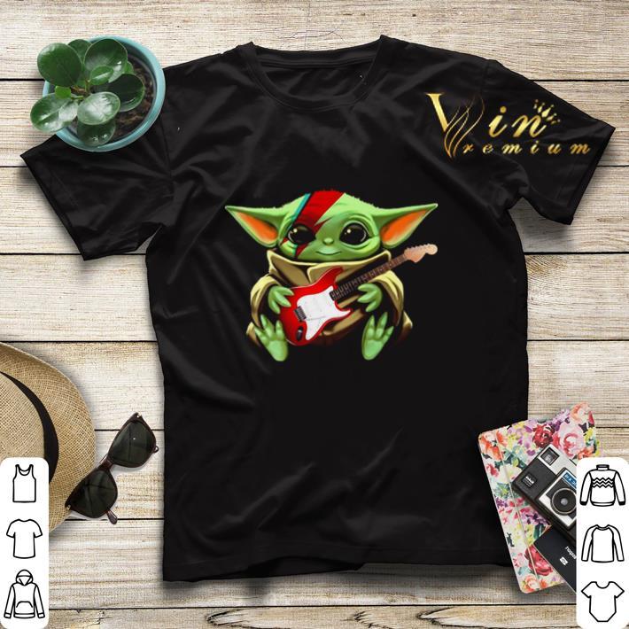 Baby Yoda hug Electric guitar Star Wars shirt sweater 4 - Baby Yoda hug Electric guitar Star Wars shirt sweater