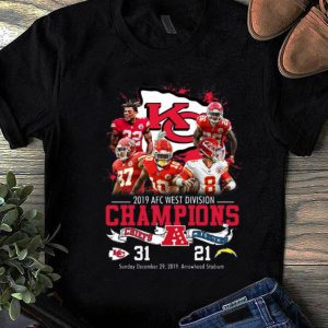 Beautiful Kansas City Chiefs 2019 Afc West Division Champions Chiefs Vs Chargers shirt