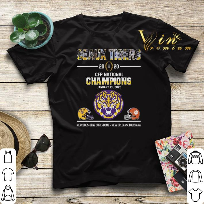 Geaux Tigers 2020 CFP National Champions LSU Clemson Tigers shirt sweater 4 - Geaux Tigers 2020 CFP National Champions LSU Clemson Tigers shirt sweater