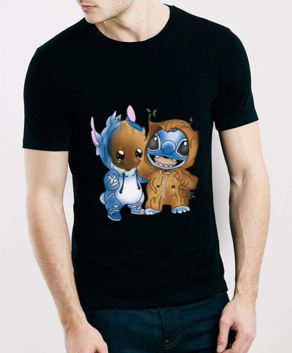 Hot Baby Groot And Stitch shirt