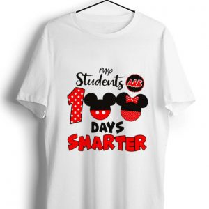 Hot My Students Are 100 Days Smarter Mickey shirt