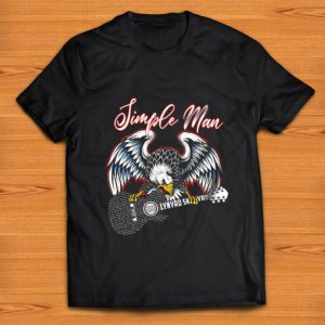 Hot Simple Man love Lynyrd Skynyrd rock band guitar shirt