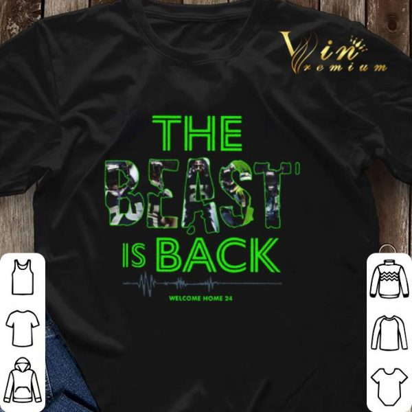 Marshawn Lynch The Beast is back welcome home 24 Seahawks shirt sweater