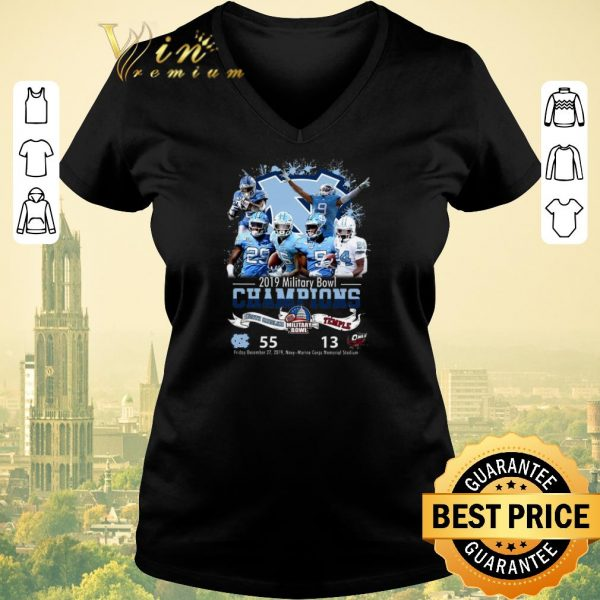 Nice 2019 Military Bowl Champions North Carolina Tar Heels vs Temple shirt sweater