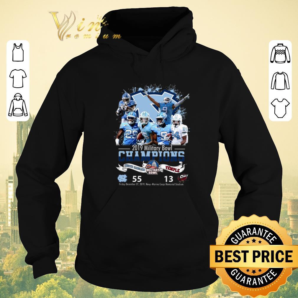 Nice 2019 Military Bowl Champions North Carolina Tar Heels vs Temple shirt sweater 4 - Nice 2019 Military Bowl Champions North Carolina Tar Heels vs Temple shirt sweater