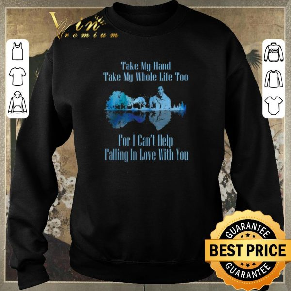 Nice Guitar Lake Can't Help Falling In Love Lyrics Elvis Presley shirt sweater