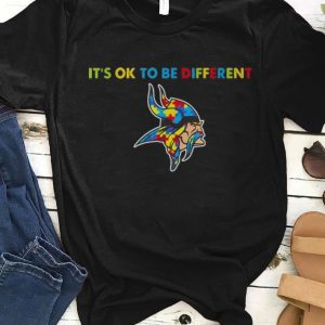 Official Minnesota Vikings Autism It's Ok To Be Different shirt
