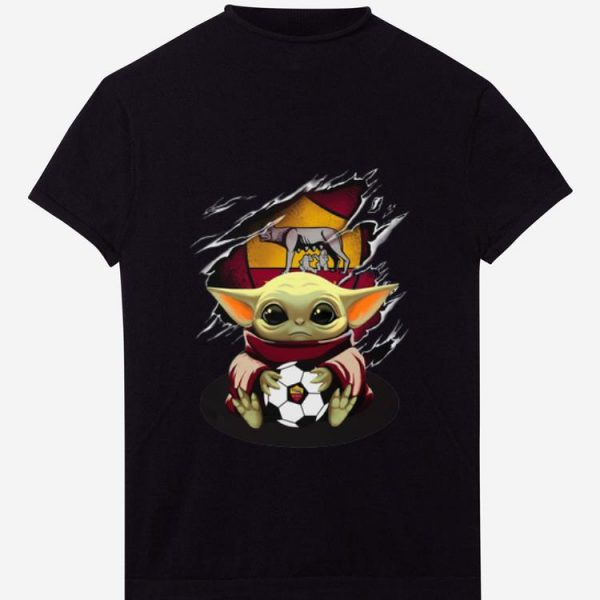 Official Star Wars Baby Yoda Blood Inside As Roma shirt